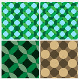 Set of four cross oval pattern Royalty Free Stock Image