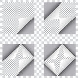 Set of four curl papers Stock Photos