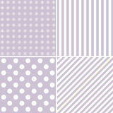 Set of four cute backgrounds in pastel colors Royalty Free Stock Photos