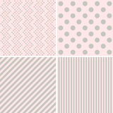 Set of four cute retro backgrounds Royalty Free Stock Photo