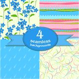 Cute seamless backgrounds Royalty Free Stock Photos