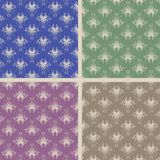 Set of four damask seamless Royalty Free Stock Image
