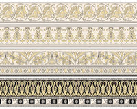 Set of four decorative borders Stock Image