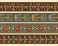Set of four decorative borders Royalty Free Stock Image