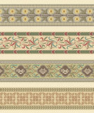 Set of four decorative borders Royalty Free Stock Photography