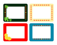 Set of four decorative flat frames Stock Photography