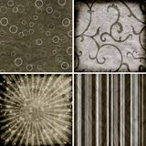 Set of four different  backgrounds Stock Photos