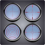 Set of four different crosshairs Royalty Free Stock Photo