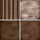 Set of four different retro scrapbook backgrounds Stock Photos
