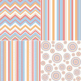 Set of four different seamless pattern Royalty Free Stock Photos