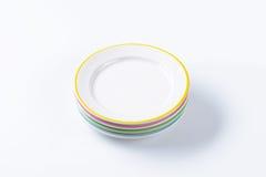 Set of four dinner plates Stock Photo