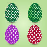 Set of four easter eggs Royalty Free Stock Photos