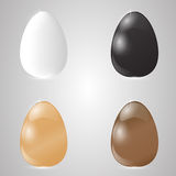 Set of four Easter eggs on a light gray background. Royalty Free Stock Images