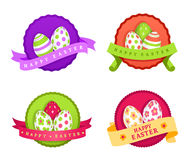 Set of four Easter illustrations Stock Photo