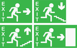 Vector Exit Signs. Set of four editable 'Exit' signs royalty free illustration