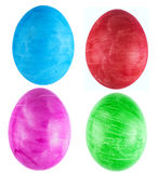 A set of four eggs isolated. On white background Royalty Free Stock Photography