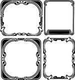 Set Of Four Elegance Baroque  Frames Royalty Free Stock Photo