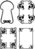 Set Of Four Elegance Baroque  Frames Royalty Free Stock Images