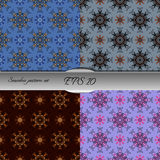 Set of four elegant seamless patterns. Nice hand drawn vector illustration Stock Photography