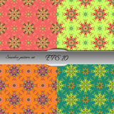 Set of four elegant seamless patterns. Nice hand drawn vector illustration Stock Images