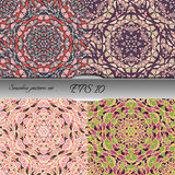 Set of four elegant seamless patterns. Nice hand drawn vector illustration Royalty Free Stock Image