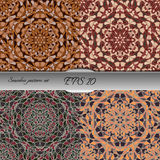 Set of four elegant seamless patterns. Nice hand drawn vector illustration Royalty Free Stock Photos