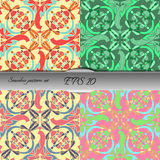 Set of four elegant seamless patterns. Nice hand drawn vector illustration Royalty Free Stock Images