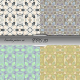 Set of four elegant seamless patterns. Nice hand drawn vector illustration Royalty Free Stock Photo