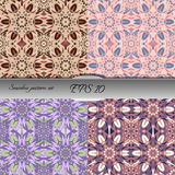 Set of four elegant seamless patterns. Nice hand drawn vector illustration Royalty Free Stock Photography