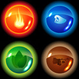 Set of the four elements Stock Photo