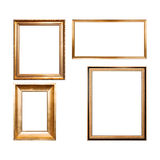 Set of four empty wooden frames Stock Photo