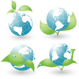 Set of four environmental icons royalty free stock photos