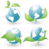 Set of four environmental icons Royalty Free Stock Photos