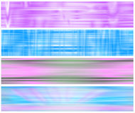 Set four ethereal web banners Royalty Free Stock Photo