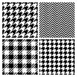 Set of four fashion patterns Stock Photos