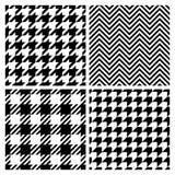 Set of four fashion patterns Stock Photos
