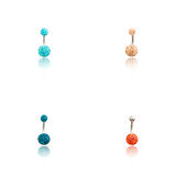 Set of four fashion Piercing Royalty Free Stock Photography