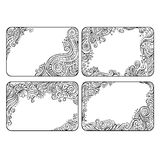 Set of four floral decorative vector frames Stock Image