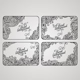 Set of four floral decorative vector frames Stock Photography