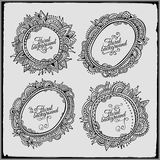 Set of four floral decorative vector frames Royalty Free Stock Image
