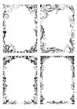 Set of four floral frame Stock Image