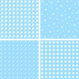Set of four floral patterns. In blue tones Stock Photos