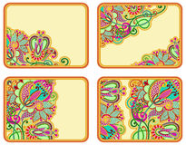 Set of four flower background design Royalty Free Stock Image
