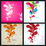 Set of four flower backgrounds Royalty Free Stock Photos