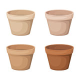 Set of four flowerpots. Stock Images