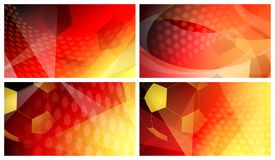 Soccer backgrounds in colors of Germany. Set of four football or soccer abstract backgrounds with big ball in national colors of Germany Stock Photography