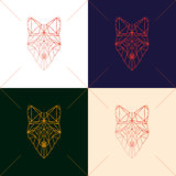 Set of four fox head Stock Photos