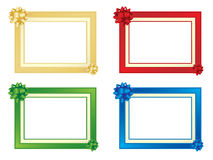 Set of four frames with bows. More christmas images in my portfolio Royalty Free Stock Photography