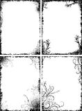 Set of four frames in grunge style Royalty Free Stock Image