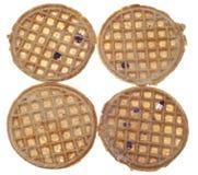 Set of Four Frozen Blueberry Waffles Stock Photos